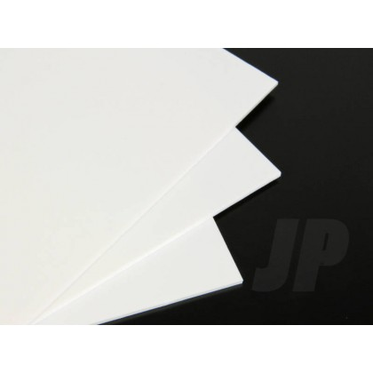 J Perkins 30Thou. White Plastic Sheet 0.75mm (9 x 12ins) 5521820