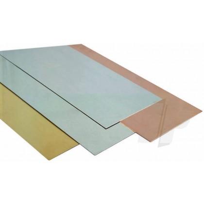 """K&S .008 x 4 x 10"""" Tin Coated Steel Sheet (1 Pack) 254"""
