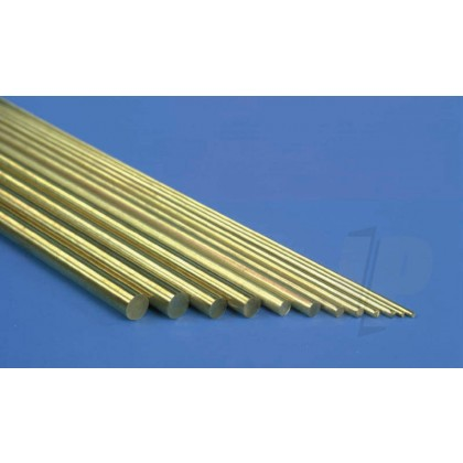 K&S 3/32 Solid Brass Rod 36in 1161
