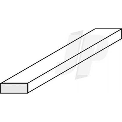 "Evergreen .020 x .100"" Opaque White Styrene Strip (10 Pack) 125"