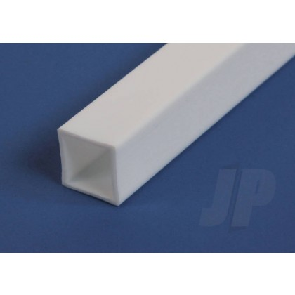 "Evergreen .375"" Opaque White Styrene Square Tube (2 Pack) 256"