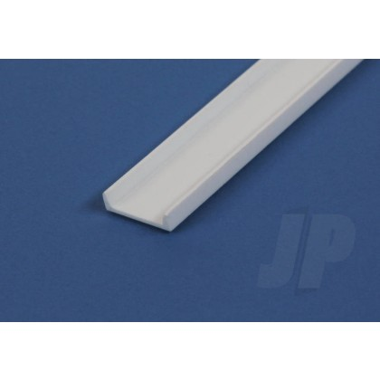 """Evergreen .250"""" Opaque White Styrene Channel (3 Pack) 267"""