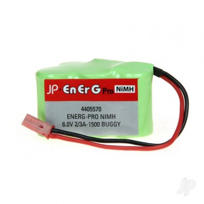 EnErG Pro NiMH 6.0V 2/3A-1500 Buggy RX Pack Hump Buggy Battery 4405570