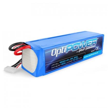 Optipower LiPo Battery 1600mAh 6S OPR16006S