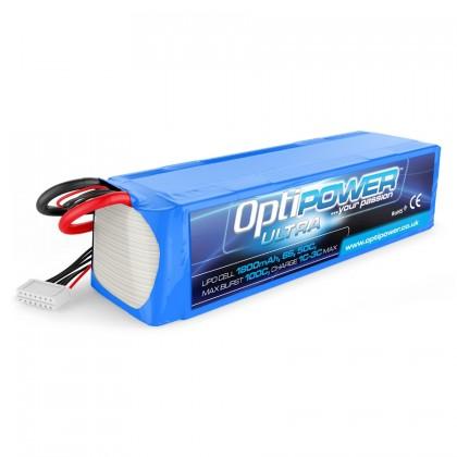 Optipower LiPo Battery 1800mAh 6S 50C OPR18006S50