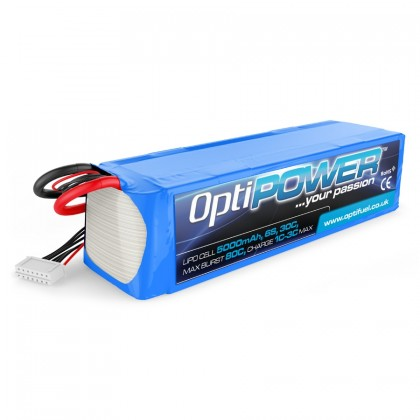 Optipower LiPo Battery 5000mAh 6S 30C OPR50006S