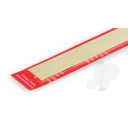 "K&S .064 x 1 Brass Strip 12"" (1 Pack) 248"