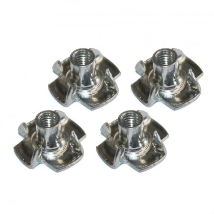 MacGregor Pronged T Nuts/Blind Nut M4 (x4) ACC0070