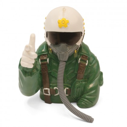 MacGregor 1/6th Scale Jet Pilot Bust (Green) ACC0102
