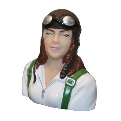 MacGregor 1/6th Scale Female Civilian Pilot Bust ACC0129