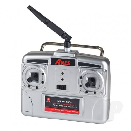 Ares 2.4GHz 4-Channel Transmitter with 100mA Charger (Hitec Red) (Sopwith, Fokker DVII) AZSA1838