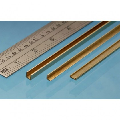 Albion Alloys 2.5x2.5mm Brass U Channel (1 Pack) UC3