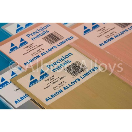 Albion Alloys 0.12mm Brass Sheet (2 Pack) SM1M