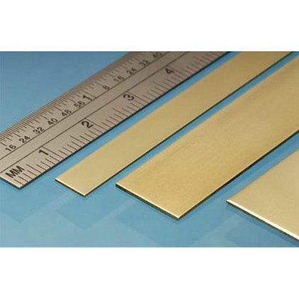 Albion Alloys 12x4mm Brass Strip (4 Pack) BS2M
