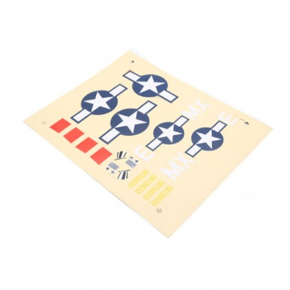 E-Flite Decal Sheet: P-47D EFL6809