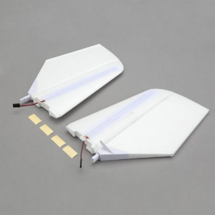 E-Flite Horizontal Tail w/LED's: NIGHT visionaire BNF Basic EFL7124