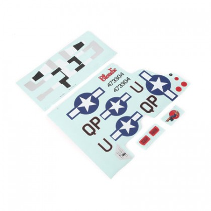 E-Flite Decal Sheet: P-51D 1.2m EFL8202