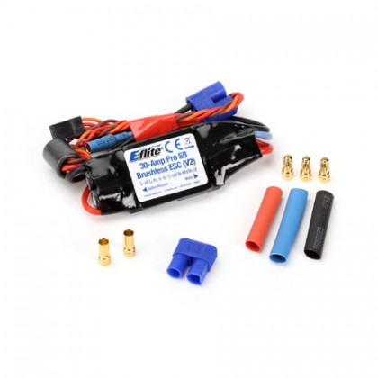E-Flite 30amp Pro Switching BEC Brushless ESC (coated) (V2) EFLA1030BC