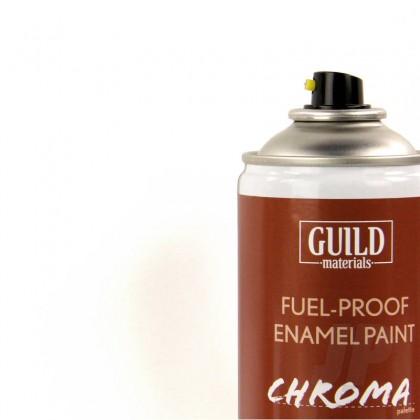 Guild Materials Gloss Enamel Fuel-Proof Paint Chroma White (400ml Aerosol) GLDCHR6400