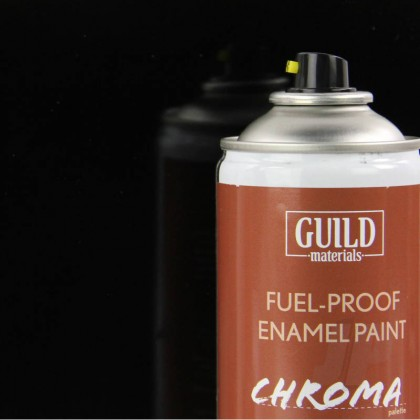 Guild Materials Gloss Enamel Fuel-Proof Paint Chroma Black (400ml Aerosol) GLDCHR6403