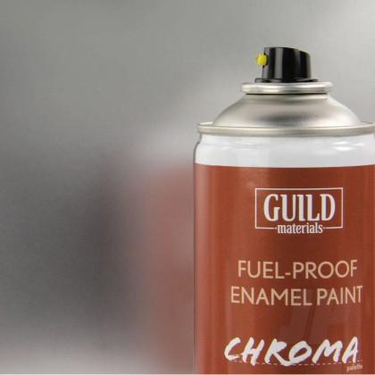 Guild Materials Gloss Enamel Fuel-Proof Paint Chroma Silver (400ml Aerosol) GLDCHR6407