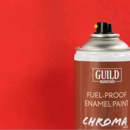 Guild Materials Matt Enamel Fuel-Proof Paint Chroma Red (400ml Aerosol) GLDCHR6501