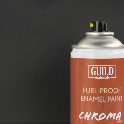Guild Materials Matt Enamel Fuel-Proof Paint Chroma Black (400ml Aerosol) GLDCHR6503