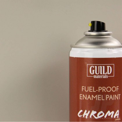 Guild Materials Matt Enamel Fuel-Proof Paint Chroma Light Grey (400ml Aerosol) GLDCHR6510