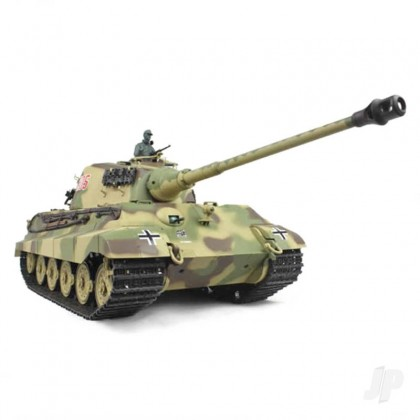 Henglong 1:16 German King Tiger Henschel with Infrared Battle System (2.4GHz + Shooter + Smoke + Sound) HLG3888A-1B