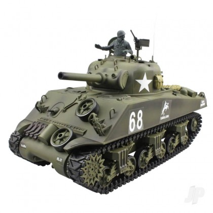 Henglong 1:16 US M4A3 Sherman with Infrared Battle System (2.4GHz + Shooter + Smoke + Sound) HLG3898-1B
