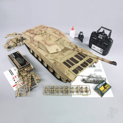 Henglong 1:16 US British Challenger 2 with Infrared Battle System (2.4GHz + Shooter + Smoke + Sound) HLG3908-1B