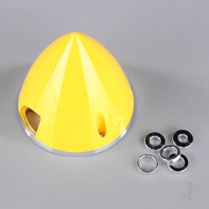 J Perkins 57mm Yellow Spinner (with Aluminium Back Plate) JPDAC02015