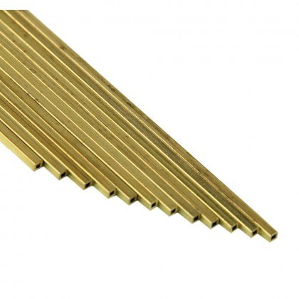 K&S 1/16x36in Square Brass Tube (12pcs) KNS149F