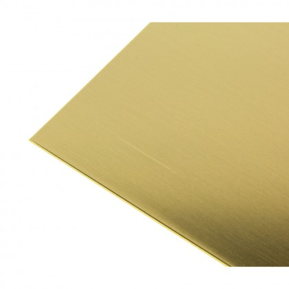 K&S .016in 6x12in Brass Sheet KNS16404