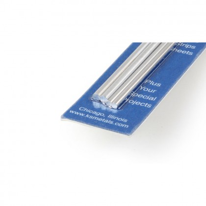K&S 12in Soft Bendable Solid Aluminium Rod 3/32, 1/8 (4pcs) KNS5070