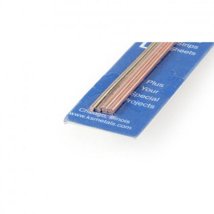 K&S 12in Soft Bendable Copper Rod 1/16, 3/32 (4pcs) KNS5071