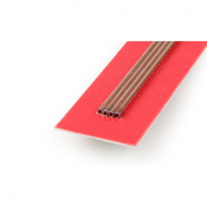 K&S 1/4in 36in Round Copper Tube, .014in Wall KNS9515
