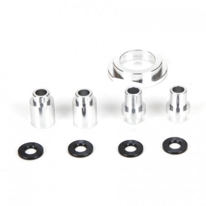 Losi Engine Mount Spacer & Clutch Mount Aluminium Silver: MTXL LOS256008