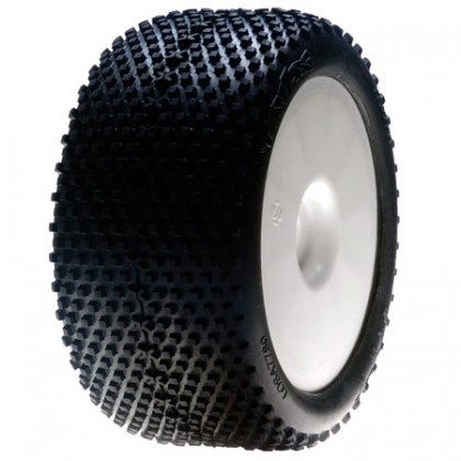 Losi 1/8 XTT Truggy Tyres Blue Compound Mounted on White Wheels 0 0ffset (2) LOSA17701B
