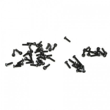Losi 5ive-T/Mini WRC 3mm Button Head & Cap Screw Assortment (38) LOSB6451
