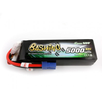 Gens Ace LiPo Car 4S 14.8V 5000mAh 50C with EC5 GC4S5000-50E5