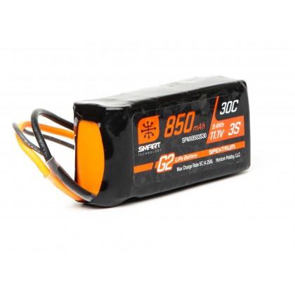 Spektrum 11.1V 850mAh 3S 30C Smart LiPo Battery G2: IC2 SPMX8503S30