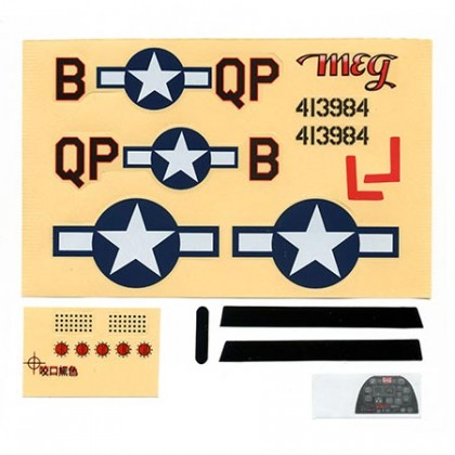 Parkzone Ultra-Micro P-51D Mustang Decal Sheet PKZU2402
