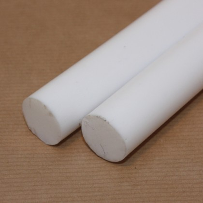 300mm x 20mm diameter PTFE Rod PLA035R20A