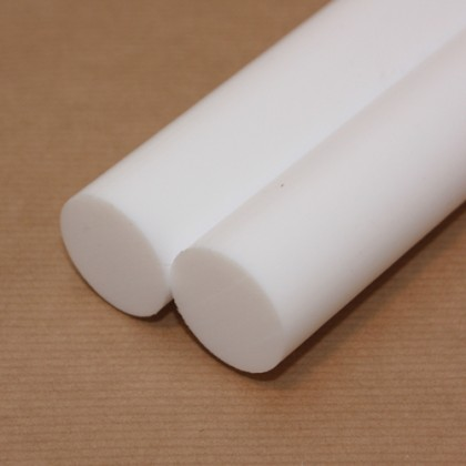 1 metre x 50mm Diameter PTFE Rod PLA035R50D