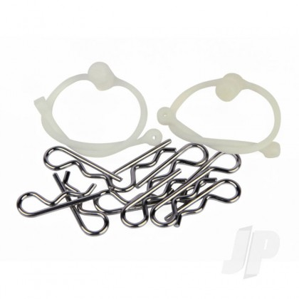 Radient Body Clips (10pcs) with White Retainers (2pcs) RDNA0306