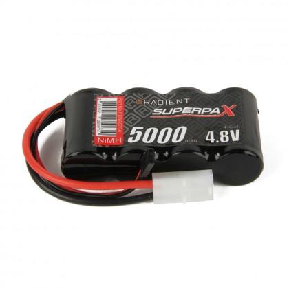 Radient NiMH 4.8V 5000mAh SC Flat, Rx, TAM / JR RDNA0664