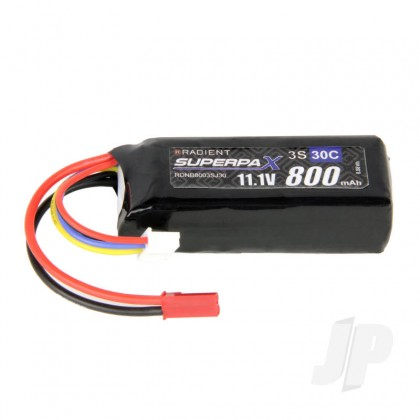 Radient LiPo 3S 800mAh 11.1V 30C JST RDNB8003SJ30
