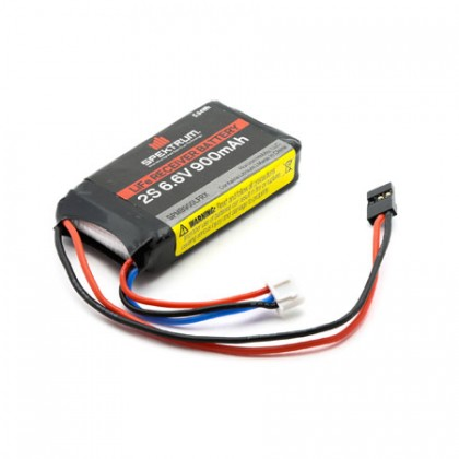 Spektrum 900mAh 2S 6.6volt Li-Fe Receiver Battery SPMB900LFRX