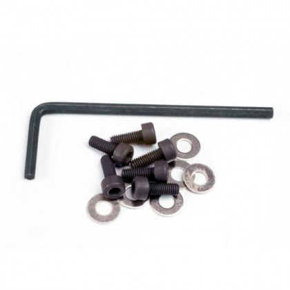 Traxxas Backplate screws (3x8mm cap-head machine) (6pcs)/washers (6pcs)/wrench TRX1552
